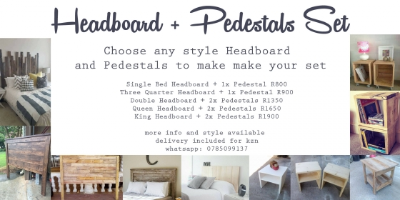 Headboard with Pedestal Promotion