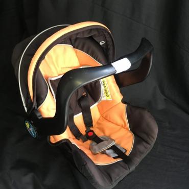 orange baby car seat