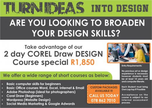 2 DAY CorelDRAW/ Wordpress Design Course