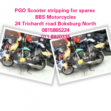 PGO Scooter stripping for spares