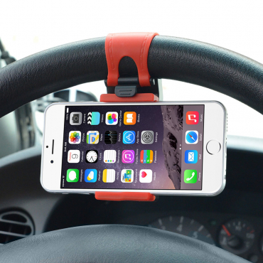 Universal car steering wheel phone holder mount