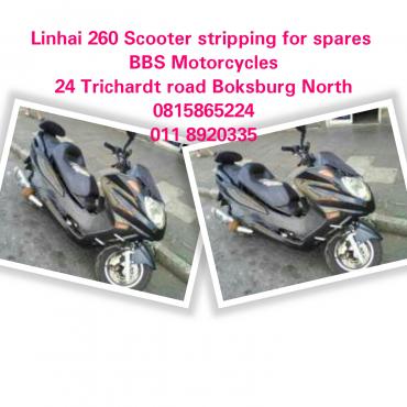 Linhai 260 Scooter stripping for spares