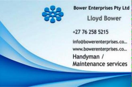 Professional Handyman Services: • General maintenance