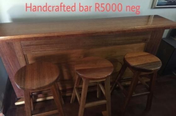 teak and maranti bar