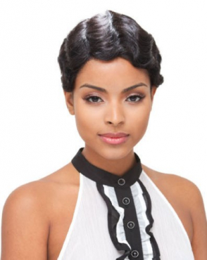 Janet 100% Human Hair Wig- Mommy colour 1B