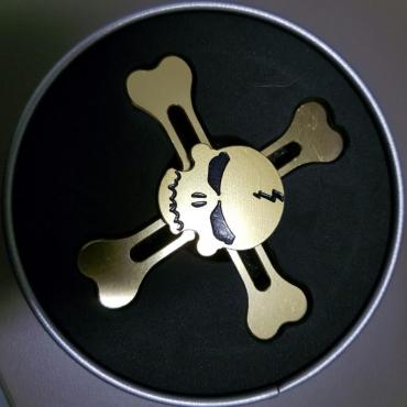 Metal skull spinner