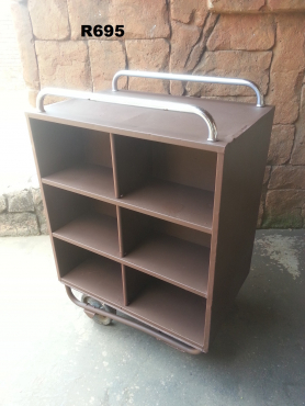 Steel 12 Rack Pigeon Hole Trolley (800x540x1180)