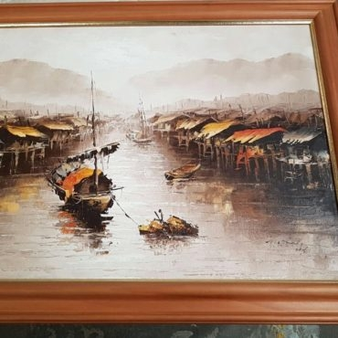 Chinese boat painting