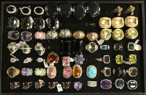 Crystal & Shell Rings - Bulk Sale