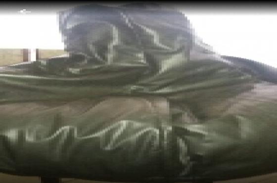 beanbag black leatherlook