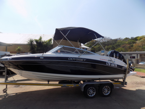 odyssey 650 on trailer 300 hp mercury verado supercharged 4 stroke 54,1 hours