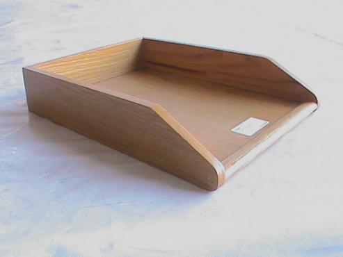 Oak letter tray