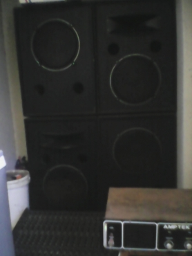 Speakers/amplifier,lots of cd's disco lights &mics,mixer & mixing desc