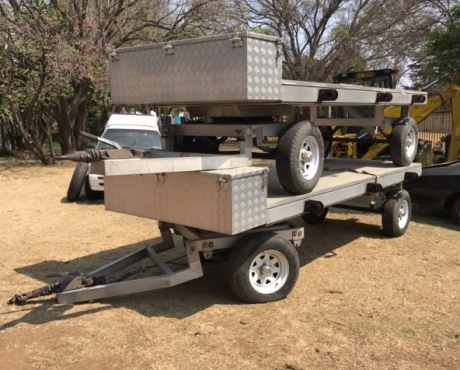Double axle full aluminum trailer