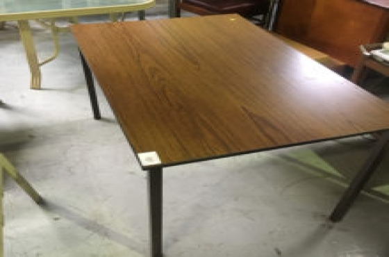 polished desk with s