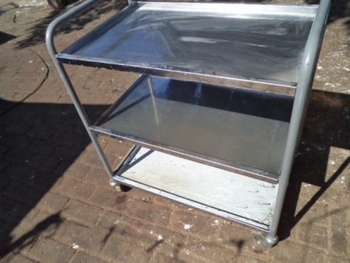 stainless steel tea trolley