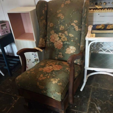 Antique Ball and Claw Rocking Chair