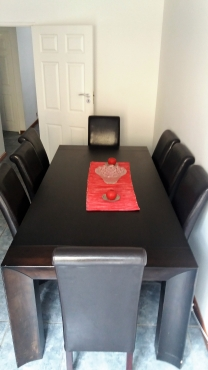 Quality 8-seater ding table with chairs
