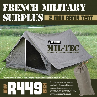 French Military Surplus Two Man Army Tent   Junk Mail