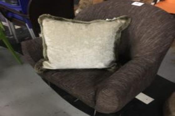 dark brown wing back chair