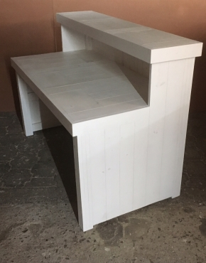 Bar Counter Farmhouse series 1500 White washed