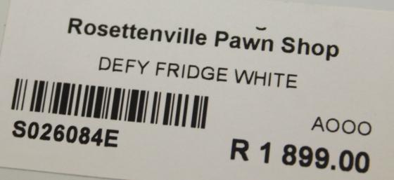 Defy fridge S026084e