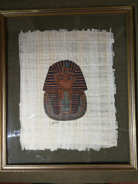2 Egyptian paintings on papyrus for sale