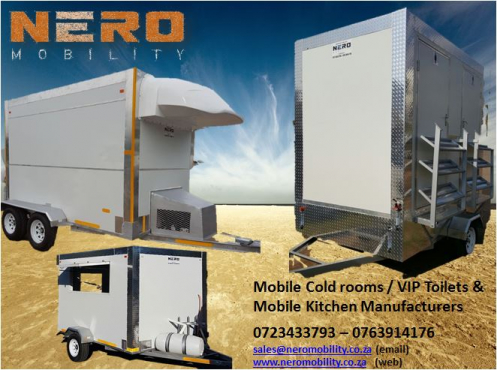 Mobile Freezers - Mobile Kitchens  - Vip Toilets - Mobile coldrooms