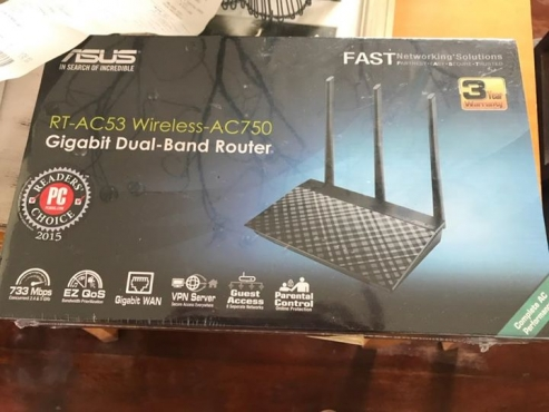 Brand new ASUS router, still packaged