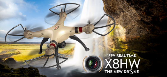 Syma X8HW WIFI FPV With 1MP HD Camera 2.4G 4CH 6Axis Altitude Hold RC Quadcopter RTF