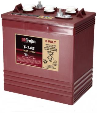 Trojan T145 6v 260ah Golf Cart Battery - Maiden Electronics Battery Fitment Centre