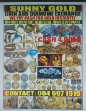 Cash for gold and silver jewelry Pretoria moot