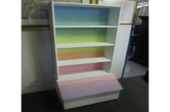 rainbow book case