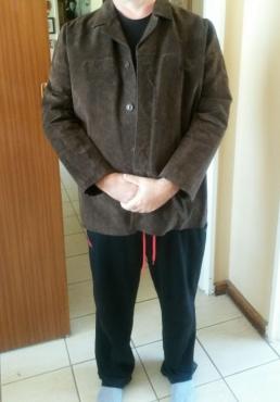 Brown Suede Jacket XXL