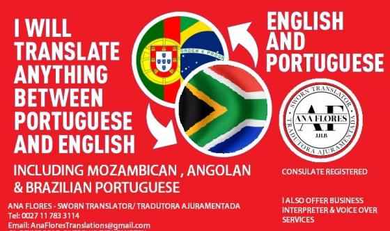 English/Portuguese Translation & Interpreter & Voice Over Services