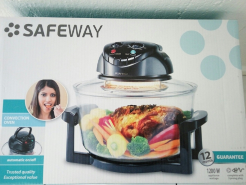 CONVECTION OVEN - SAFEWAY - BLACK - LIKE NEW (USED ONCE)