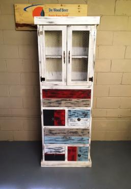 Kitchen Cupboard Farmhouse series Free standing 1900 with doors and drawers Vintage