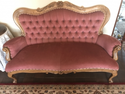 Victorian hand carved lounge suite