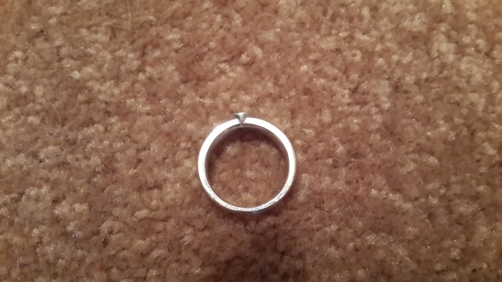 18 CT White Gold Ring for Sale
