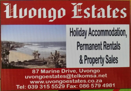 Self Catering Holiday Accommodation offered from Shelly Beach to Ramsgate