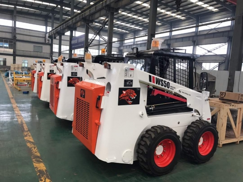 We Sell Skid Steers from China and have warrantee on all.