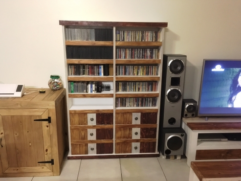 CD Rack Farmhouse series 1750 with drawers Weathered