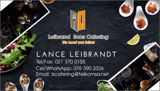 LSCatering (PTY)Ltd Catering and Evens
