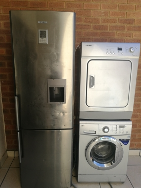 Samsung Fridge, Samsung TD, LG one drive washing machine
