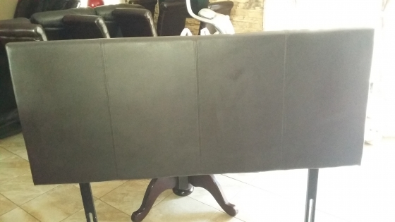 Leather Headboard & 2 Pedestals for Sale