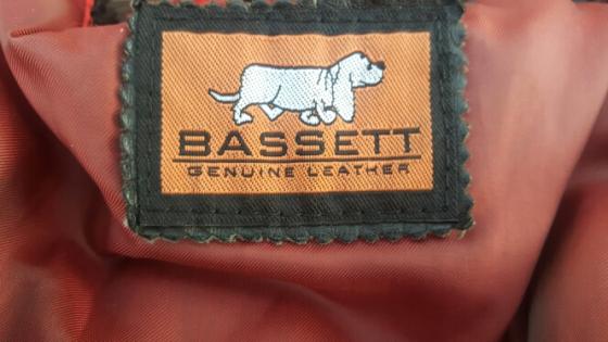 Black Basset Genuine Leather Jacket for sale