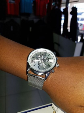 Stainless steel band wrist watch