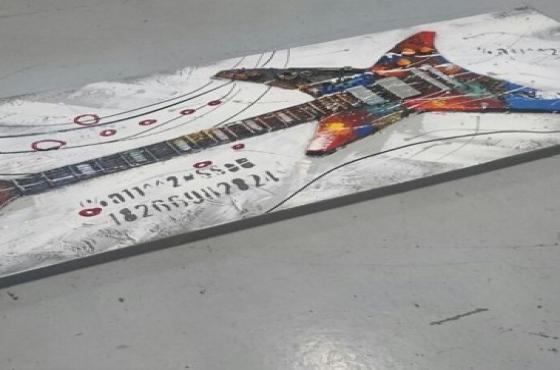 Guitar canvas painti
