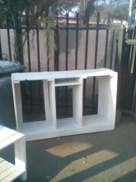 Maak van hout meubels