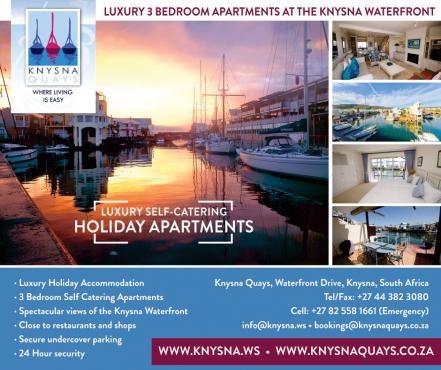 Knysna Quays Accommodation - 3 Bedroom unit